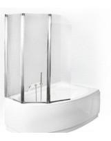 Шторка для ванни PMD ambition -3S 125,5х139 см. хром.