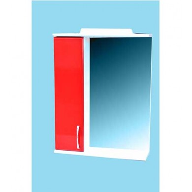 Дзеркало у ванну кімнату з пеналом червоне