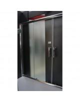 Душові двері розсувні F2  скло фабрік, проф. хром