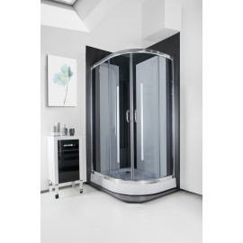 Кабіна душова асиметрична 1015 G 115х85х195 SANTEH / піддон 15 см