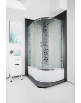 Кабіна душова асиметрична 1115 T 115х85х195 SANTEH / піддон 40 см