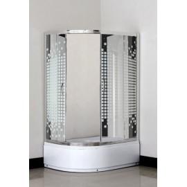 Кабіна душова асиметрична 1115 SQ 115х85х195 SANTEH / піддон 40 см