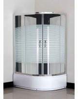 Кабіна душова асиметрична 1115 L 115х85х195 SANTEH / піддон 40 см